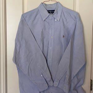 Ralph Lauren Blue Buttondown 16.5 33 Dress Shirt